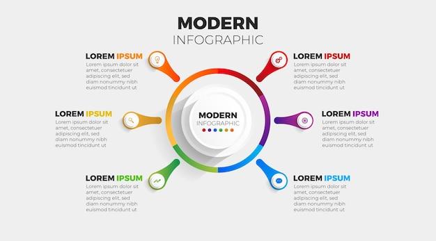Modernes infografik 4 element
