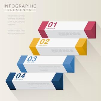 Modernes infografikdesign mit geometrischen 3d-elementen
