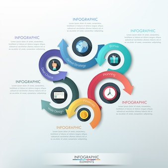 Modernes infografiken-optionsbanner für 4 optionen