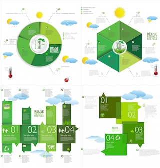 Modernes infographic design-layout