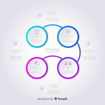 Modernes infographic in der steigungsart