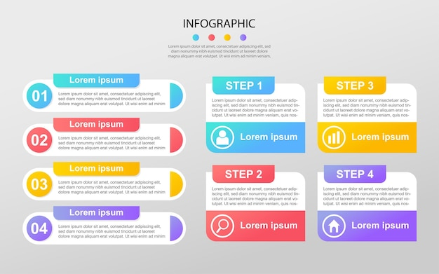Modernes infographic schablonenhintergrunddesign env 10