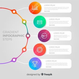 Modernes infographic schrittdesign