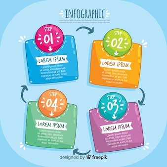Modernes infographic schritte konzept