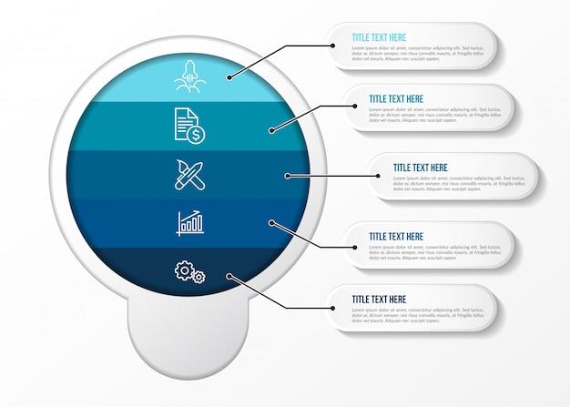 Modernes infographik mit tabelle 3d