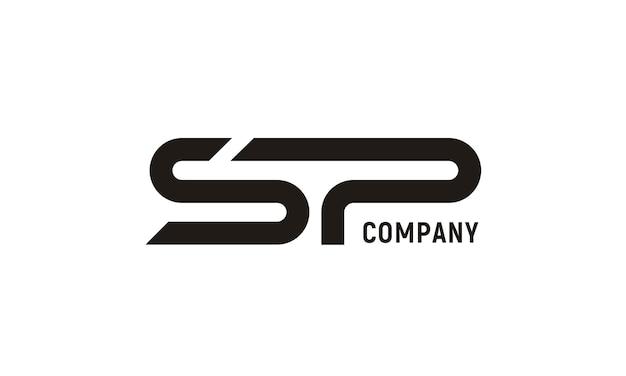 Modernes initial sp logo