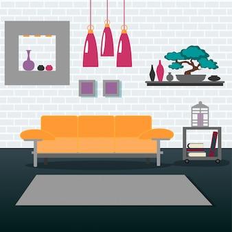 Modernes innenwohnzimmer