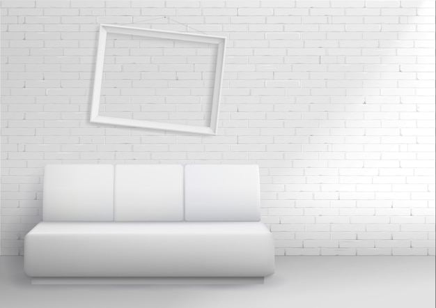 Modernes interieur mit sofa