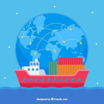 Modernes internationales handelskonzept