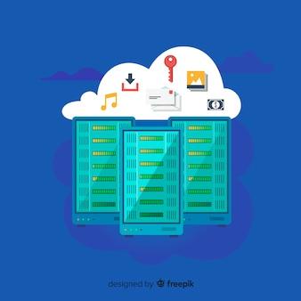 Modernes internet-cloud-konzept