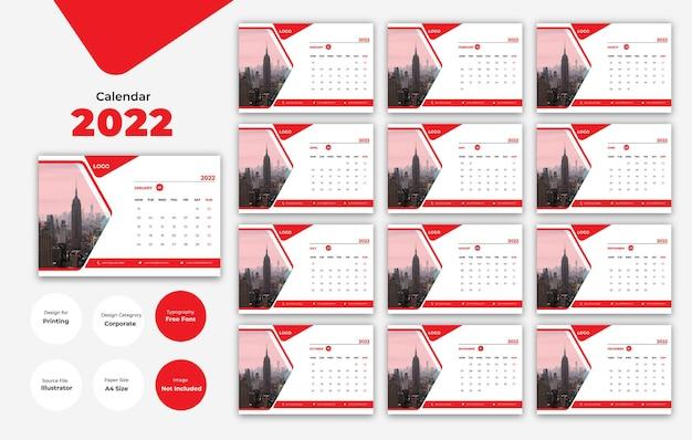 Modernes kalenderdesign 2021 neujahrsvorlage