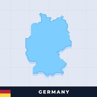Modernes kartendesign von deutschland
