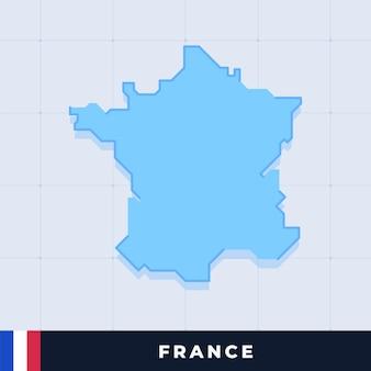 Modernes kartendesign von frankreich
