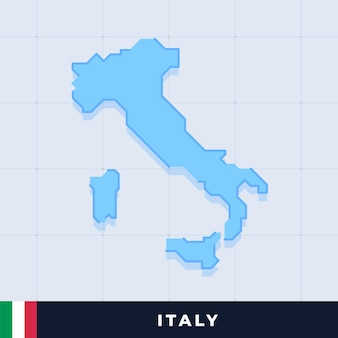 Modernes kartendesign von italien