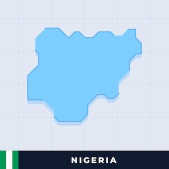 Modernes kartendesign von nigeria