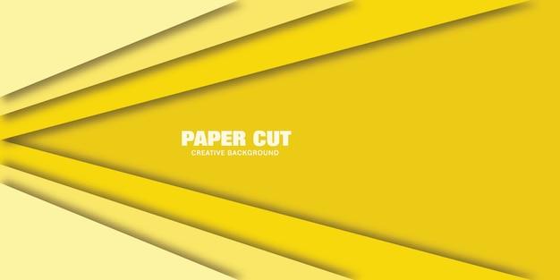 Modernes konzept der linie, vektorillustration des papierschnittstils für fahne.