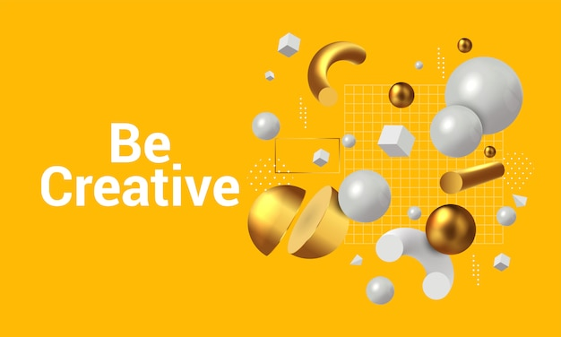 Modernes konzept, kreativ zu sein