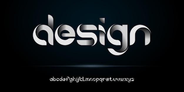 Modernes kreatives alphabet mit städtischer stilschablone