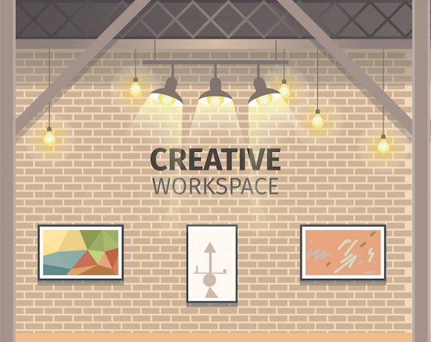 Modernes kreatives freiberufliches arbeitsstudio