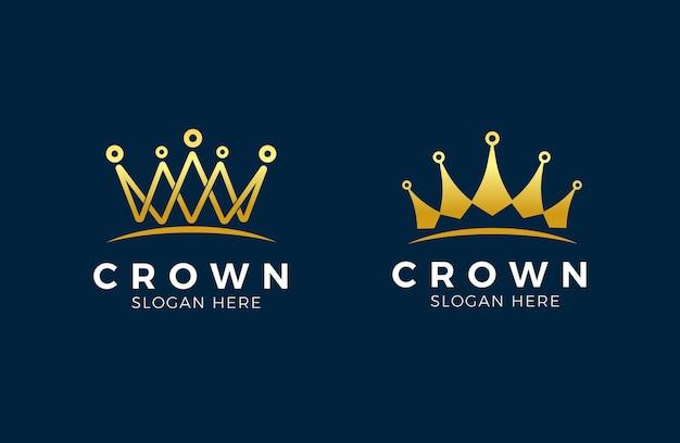 Modernes kronenlogo königlicher könig königin abstraktes logo
