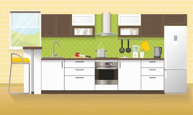 Modernes kücheninterieur