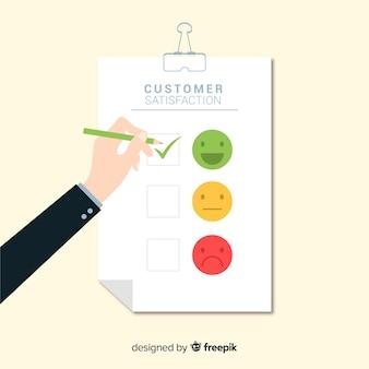 Modernes kundenzufriedenheitsdesign