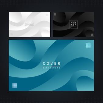 Modernes kurviges cover-set