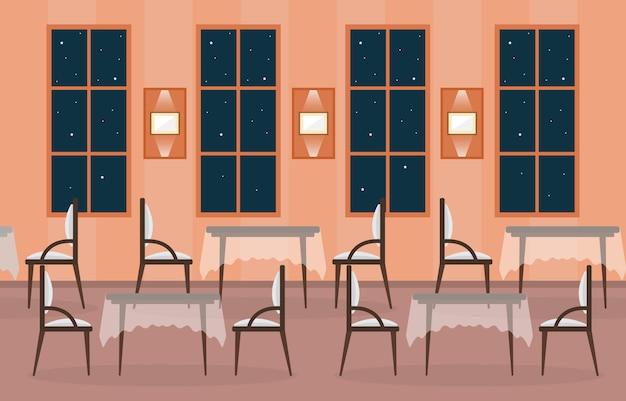 Modernes leeres café-restaurant