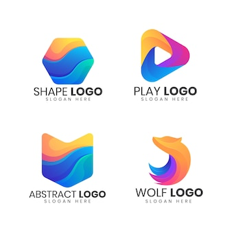 Modernes logo-bundle