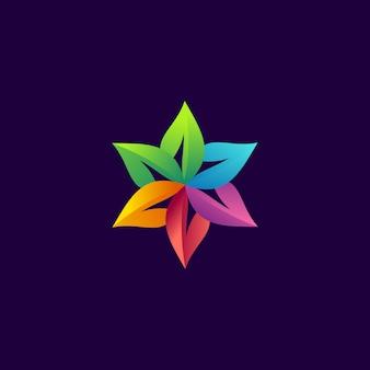 Modernes logo der blume