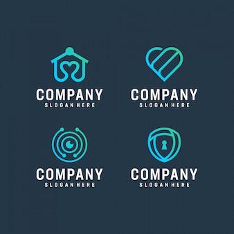 Modernes logo-design-bundle