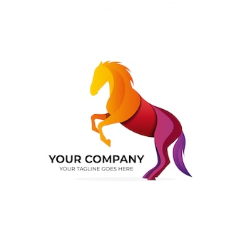 Modernes logo-design des pferdes