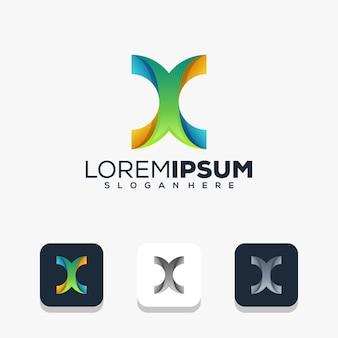 Modernes logo-design für buchstabe x