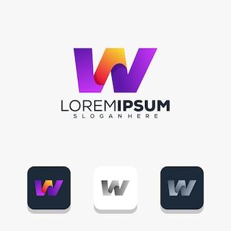 Modernes logo-design für buchstaben w