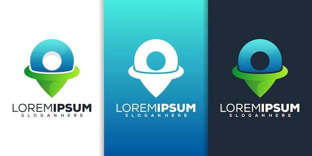 Modernes logo-design für den standort
