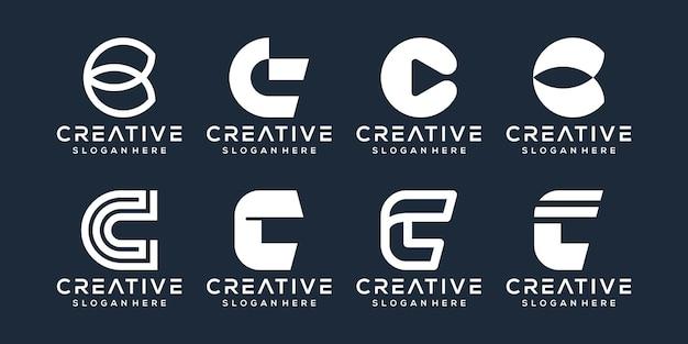 Modernes logo-design mit buchstaben d