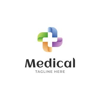 Modernes logodesign für das medizinische gesundheitswesen