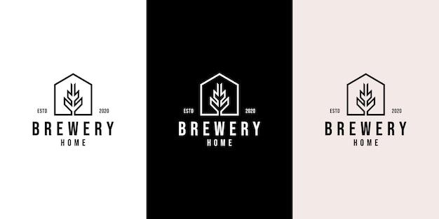 Modernes malz-logo-design für bierbrauerei zu hause