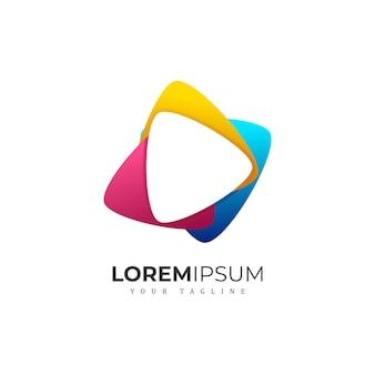 Modernes medien-logo-design