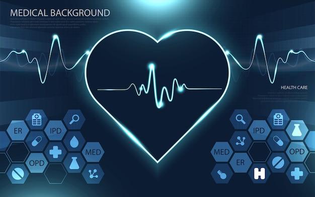 Modernes medizintechnik- und innovationskonzept. gesundheitsmuster medizinische innovation konzept hintergrunddesign.