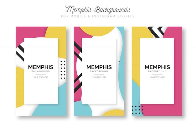 Modernes memphis instagram geschichten template set