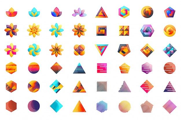 Modernes minimales vektor-logo für fahne