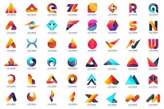 Modernes minimales Vektor-Logo für Fahne, Plakat, Flieger
