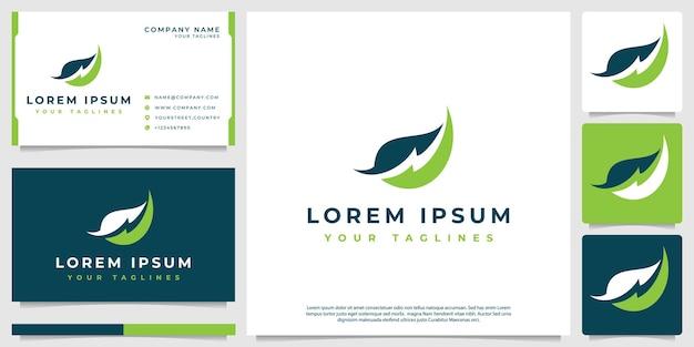 Modernes minimalistisches blitzblatt-logo