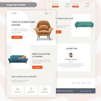 Modernes möbelverkaufs-e-mail-schablonen-design