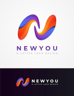 Modernes n-buchstabe-logo