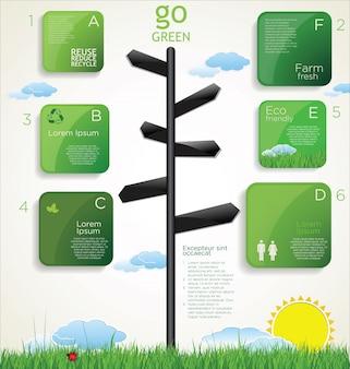 Modernes ökologie-design-layout