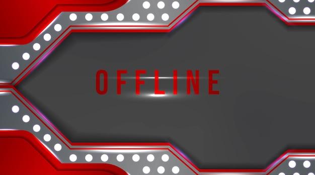 Modernes offline-banner mit abstraktem hintergrund für twitch