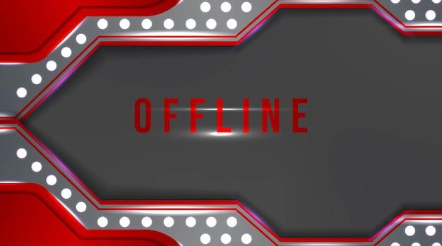 Modernes offline-banner mit abstraktem hintergrund zum zucken