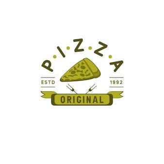 Modernes pizza-original-premium-logo